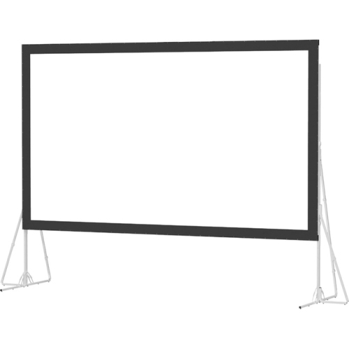 "High Contrast Da-Tex Rear Projection Heavy Duty Fast-Fold Deluxe Complete Screen System 16' x 27'6"" Area 15' x 26'6"""