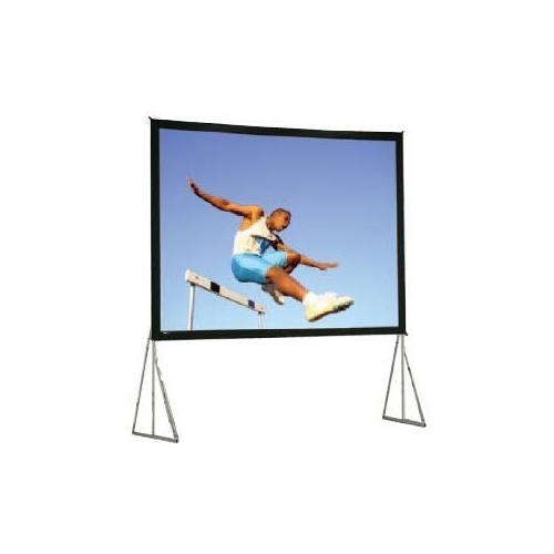Dual Vision Front and Rear Projection Heavy Duty Fast-Fold Deluxe Complete Screen System 11' x 19' Area 10' x 18'