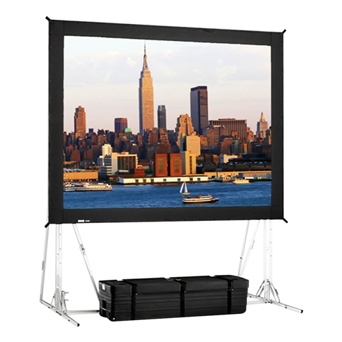 "Dual Vision Front and Rear Projection Truss Fast-Fold Truss Frame Complete Screens 13' x 22'4"" Area 12' x 21'4"""