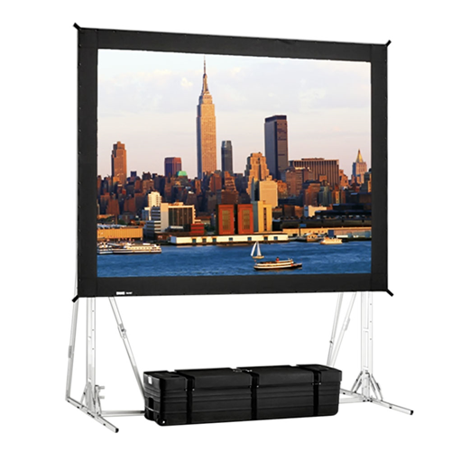 "Ultra Wide Angle Rear Projection Fast-Fold Truss Frame Complete Screens 12'3"" x 21' Area 11'3"" x 20'"