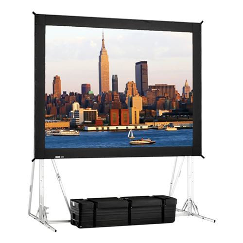 3D Virtual Black Rear Projection Fast-Fold Truss Frame Complete Screens 11' x 19' Area 10' x 18'