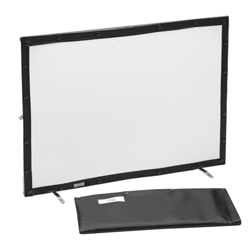 "Dual Vision Complete with Vinyl Case Fast-Fold Mini-Fold Table top screen 21""x30"""