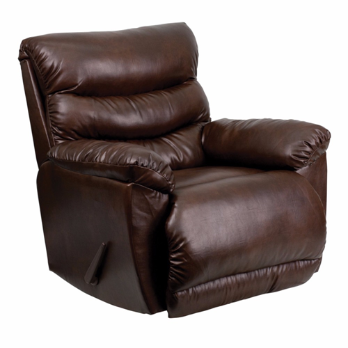 Contemporary Tonto Espresso Bonded Leather Rocker Recliner [AM-9030-5121-GG]