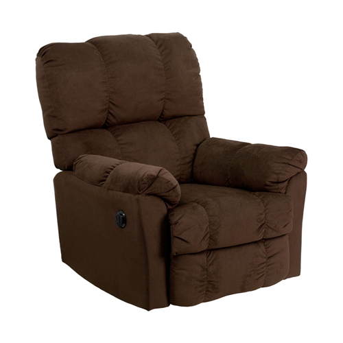 Contemporary Top Hat Chocolate Microfiber Power Recliner [AM-P9320-4171-GG]