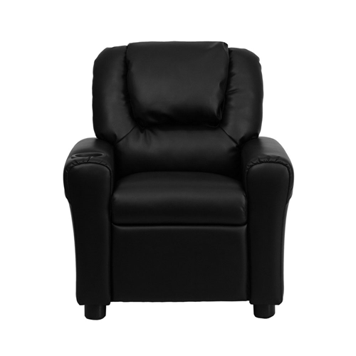 Flash Furniture Leather Kids & Teens Recliner Chair - Black