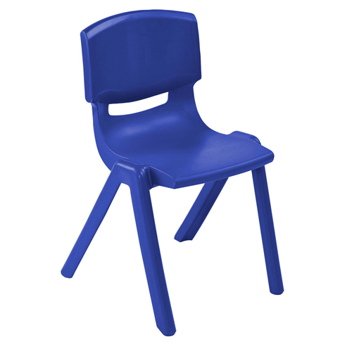 "ECR4Kids 10"" Resin School Stack Chair Blue, 6 Pack"