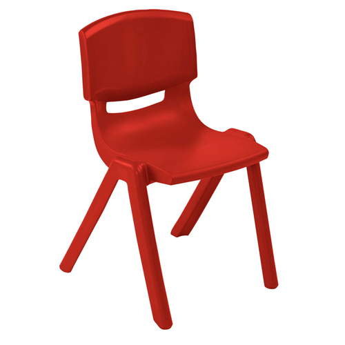 "ECR4Kids 10"" Resin School Stack Chair Red, 6 Pack"