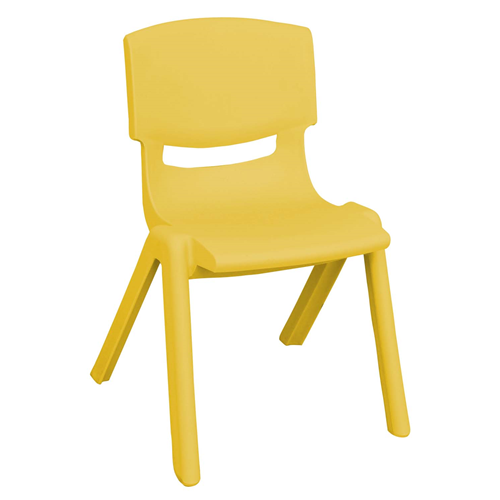 "ECR4Kids 10"" Resin School Stack Chair Yellow, 6 Pack"