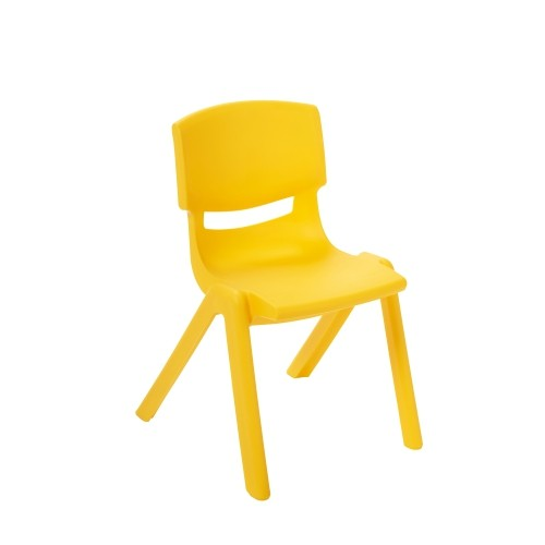 "ECR4Kids 12"" Resin School Stack Chair - Yellow"