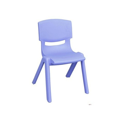 "ECR4Kids 16"" Resin School Stack Chair - Blue"