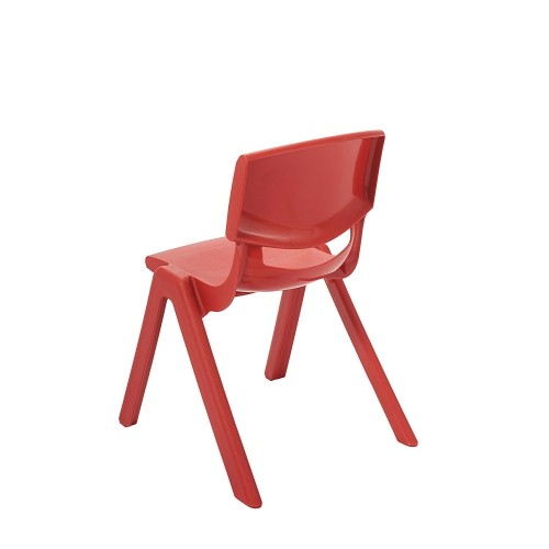 "ECR4Kids 16"" Resin School Stack Chair Red, 6 Pack"