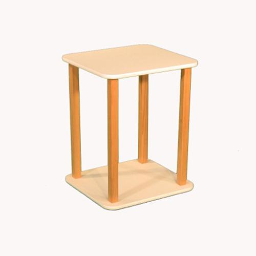 Wild Zoo Furniture CPU and Printer Stand, White/Tan