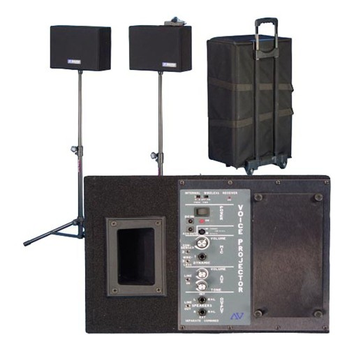 AmpliVox Wireless Powered Speaker Voice Projector Kit
