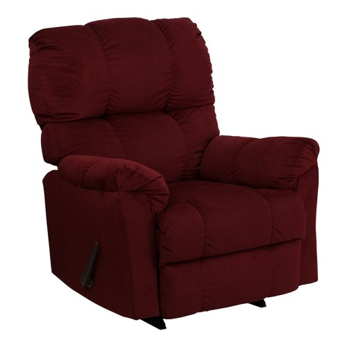 Flash Furniture Contemporary Top Hat Berry Microfiber Rocker Recliner