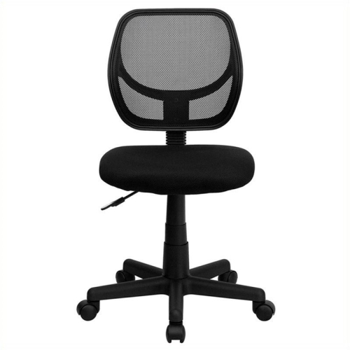 Mid-Back Black Mesh Task Chair and Computer Chair [WA-3074-BK-GG]