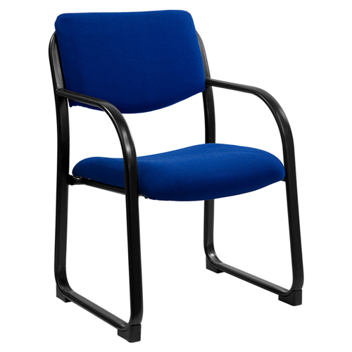 Navy Fabric Executive Side Chair with Sled Base [BT-508-NVY-GG]