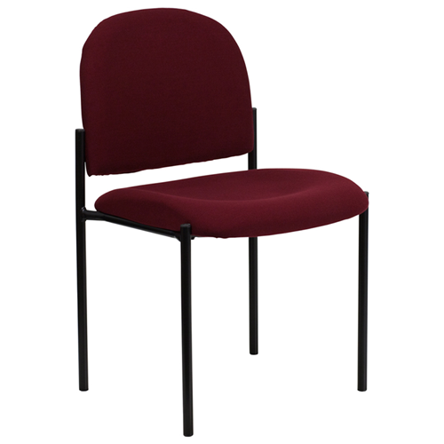 Burgundy Fabric Comfortable Stackable Steel Side Chair [BT-515-1-BY-GG]