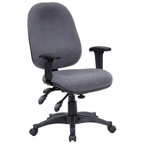 Mid-Back Multi-Functional Gray Fabric Swivel Computer Chair [BT-662-GY-GG]