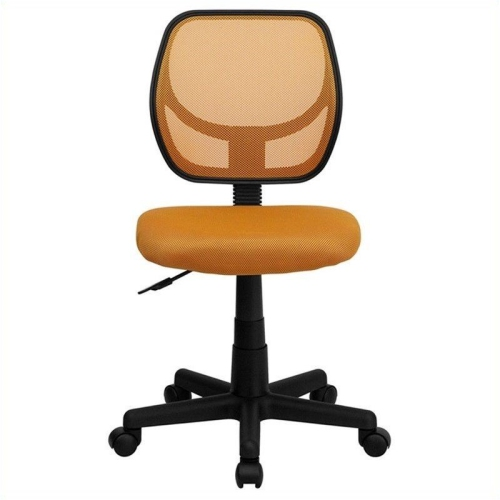 Mid-Back Orange Mesh Task Chair and Computer Chair [WA-3074-OR-GG]
