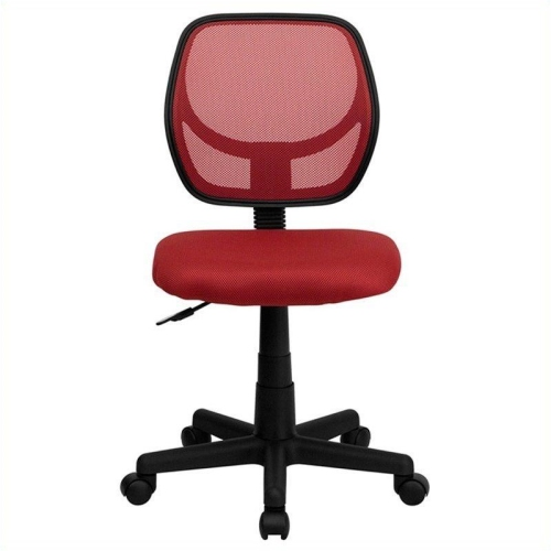 Mid-Back Red Mesh Task Chair and Computer Chair [WA-3074-RD-GG]