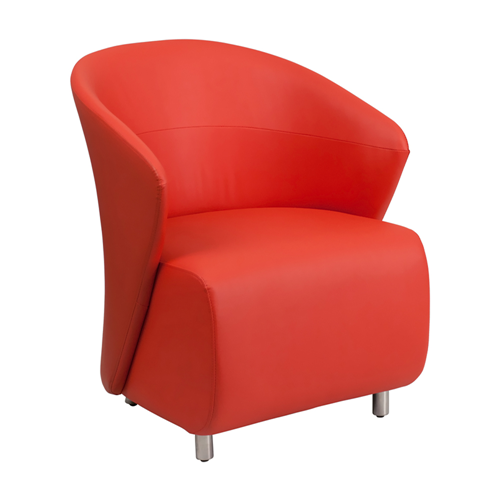 Red Leather Reception Chair [ZB-6-GG]