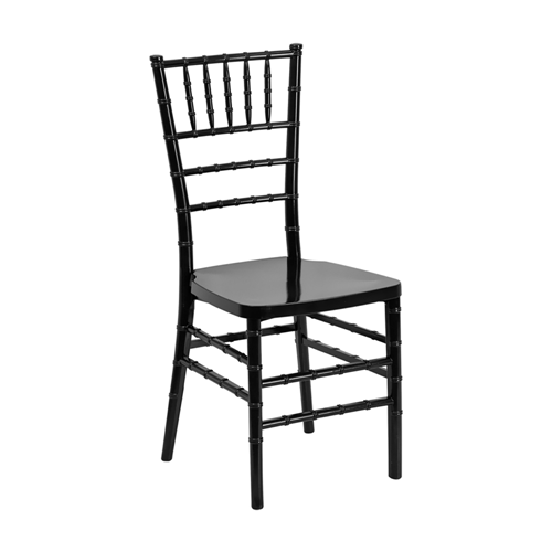 Flash Elegance Black Resin Stacking Chiavari Chair [LE-BLACK-GG]