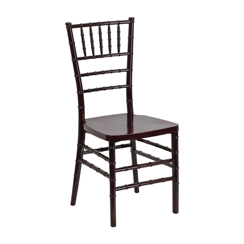 Flash Elegance Mahogany Resin Stacking Chiavari Chair [LE-MAHOGANY-GG]