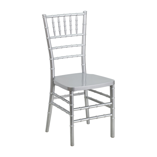 Flash Elegance Silver Resin Stacking Chiavari Chair [LE-SILVER-GG]