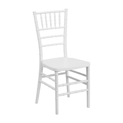 Flash Elegance White Resin Stacking Chiavari Chair [LE-WHITE-GG]