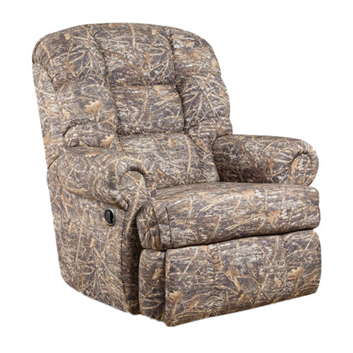 Big And Tall 350 Lb. Capacity Camouflaged Encore Conceal Brown Fabric Recliner [AM-9930-1355-GG]