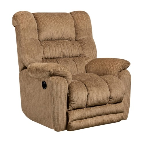 Contemporary Temptation Fawn Microfiber Power Recliner with Push Button [AM-P9560-6450-GG]