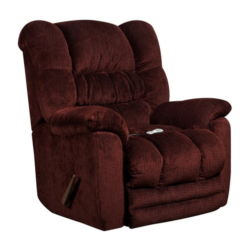 Massaging Temptation Merlot Microfiber Recliner with Heat Control [AM-H9560-6451-GG]