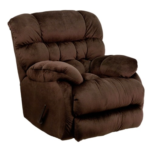 Contemporary Sharpei Chocolate Microfiber Rocker Recliner [AM-9460-5980-GG]