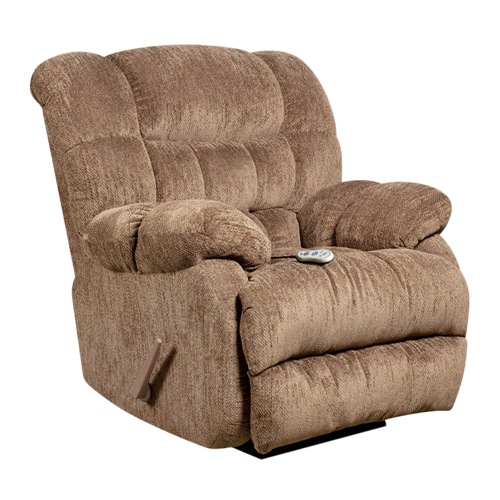 Massaging Columbia Mushroom Microfiber Recliner with Heat Control [AM-H9460-5860-GG]