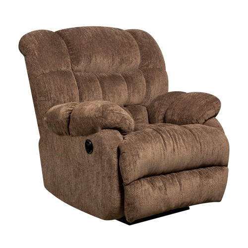 Contemporary Columbia Mushroom Microfiber Power Recliner with Push Button [AM-P9460-5860-GG]