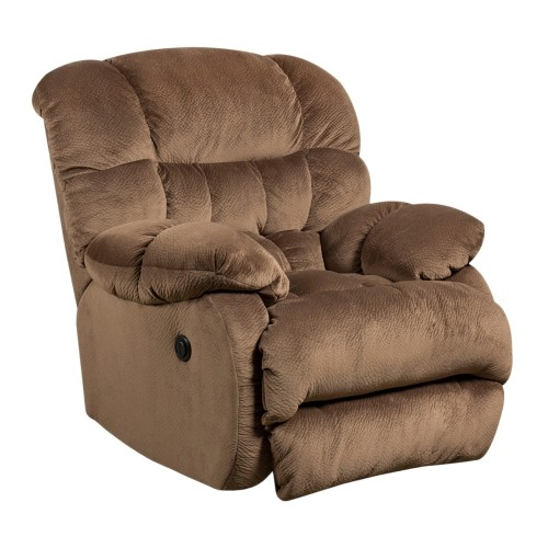Contemporary Sharpei Espresso Microfiber Power Recliner with Push Button [AM-P9460-5983-GG]