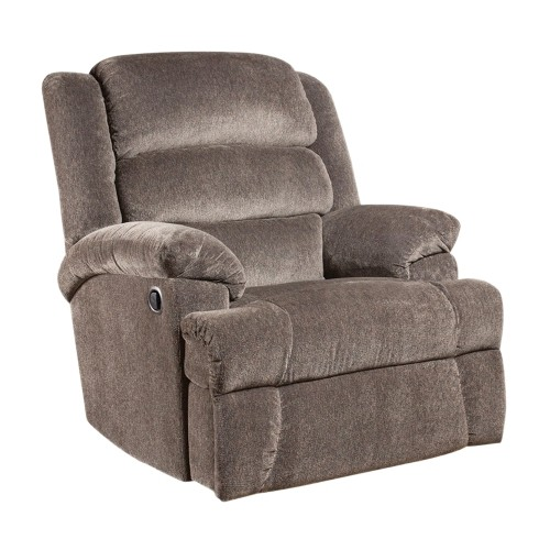 Big And Tall 350 Lb. Capacity Aynsley Charcoal Microfiber Recliner [AM-9960-7922-GG]