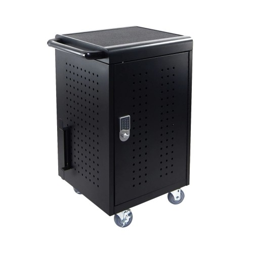 Luxor LLTM30-B-KP 30 Tablet/Chromebooks Charging Cart with Programmable Keypad Lock