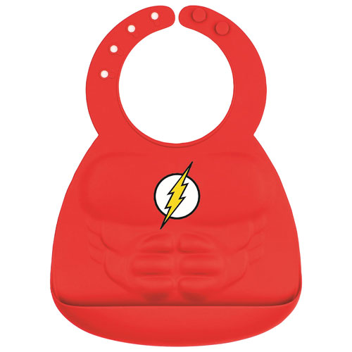 4302ca4348c7 Bumkins DC Comics Flash Silicone Bib - 6 to 24 Months - Red - Online Only