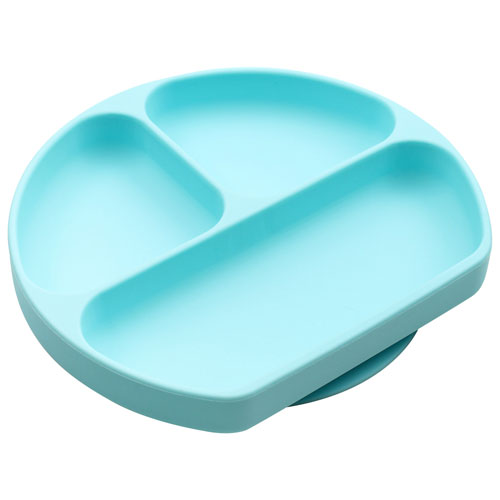 Bumkins Silicone Dish with Grip - Blue