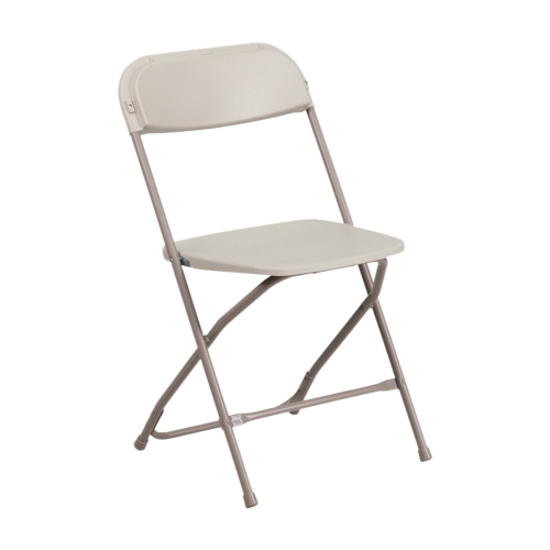 HERCULES Series 800 lb. Capacity Premium Beige Plastic Folding Chair