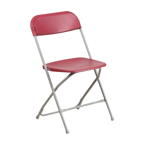 HERCULES Series 800 lb. Capacity Premium Red Plastic Folding Chair