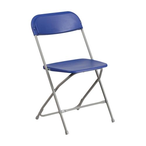 HERCULES Series 800 lb. Capacity Premium Blue Plastic Folding Chair