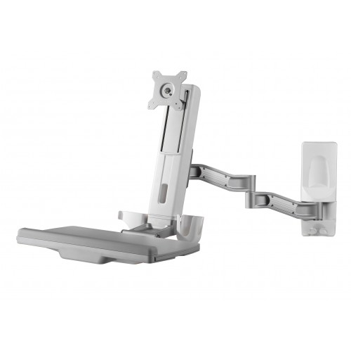 Amer Networks Sit-Stand Spring Arm Wall Mount Computer Workstation (AMR1WSL)