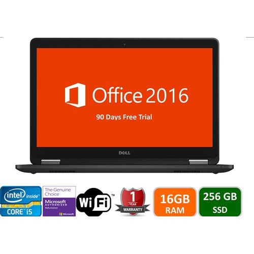Dell Latitude E6440, intel i5-4300m-2.5 GHz, 16GB Memory, 256gb SSD, DVD, Windows 10 Pro, 1YW-Refurbished