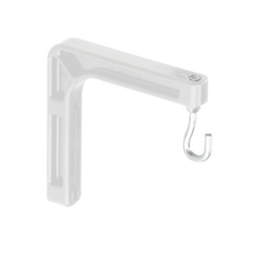 "Da-Lite Model No.6 Wall Mounting And Extension Brackets 6"", White"