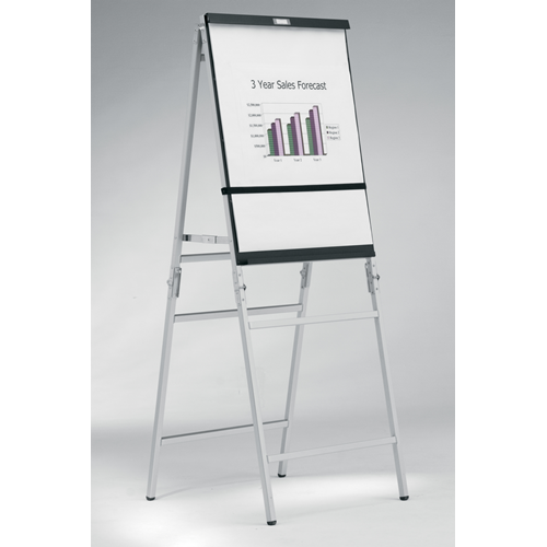 Da-Lite Heavy Duty Folding A-Frame Easels - Black/Silver Anodized
