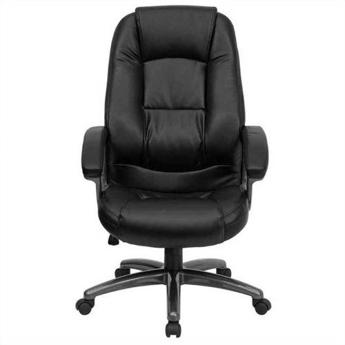 high back black leather executive office chair go 7145 bk gg