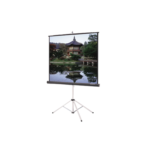 """Da-Lite Picture King With Keystone Eliminatior Rugged Tripod And Protable Projection Screen 69""""x92"""","""