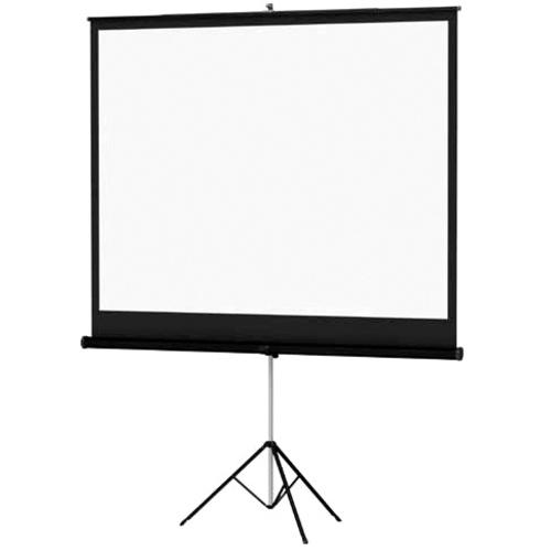 "Da-Lite Versatol 70"" X 70"" Durable TriPod Portable Projection Screen Matte White With Keystone Elimi"